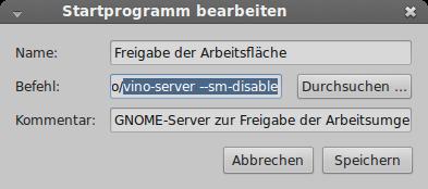 Linux Mint 17: vino-server (VNC) verweigert die Anmeldung
